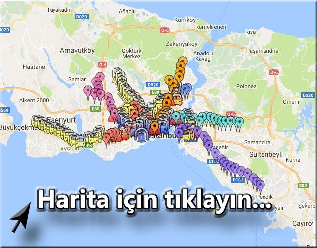 istanbul metro durakları