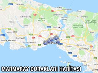 marmaray durakları haritası