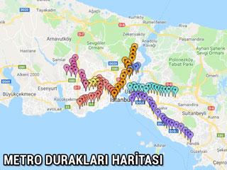 metro durakları haritası