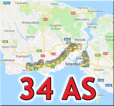 34 as metrobüs durakları