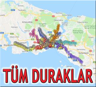 istanbul duraklar
