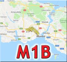 m1b metro durakları