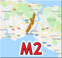 m2 metro durakları