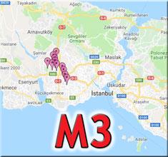 m3 metro durakları
