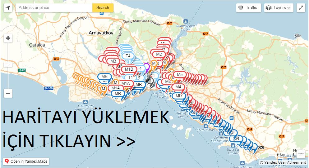 metrobüs haritası